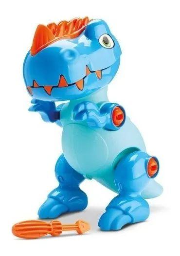 Boneco Dinossauro Rex Monta E Desmonta Tchuco Samba Toys