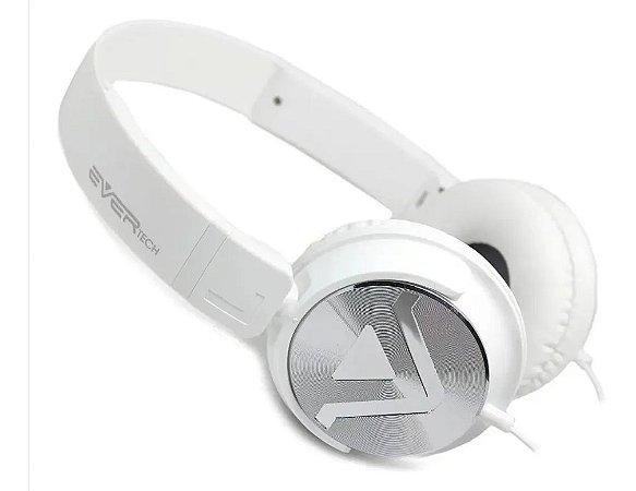 Headphone Power Bass EVHP- 20M  Branco- Ever Tech