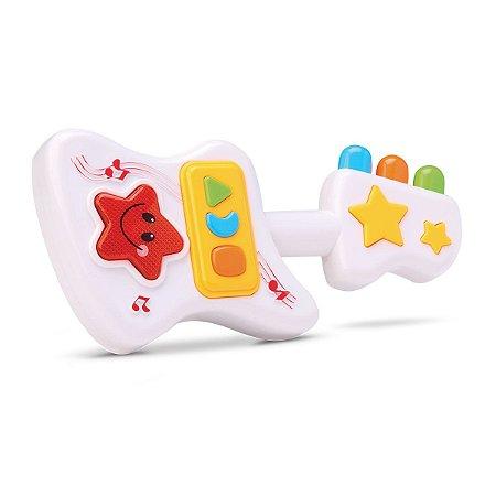 Mini Guitarra Musical Infantil Colorida - Bee Toys