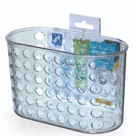Porta  Shampoo Cristal C/Ventosa Arthi