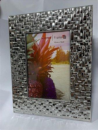 Porta Retrato De Metal Entrelaçado 10CM X 15CM - Master