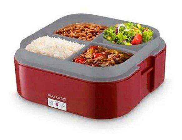 Aquecedor de Alimentos Multilaser 1,6l Bivolt Vermelha