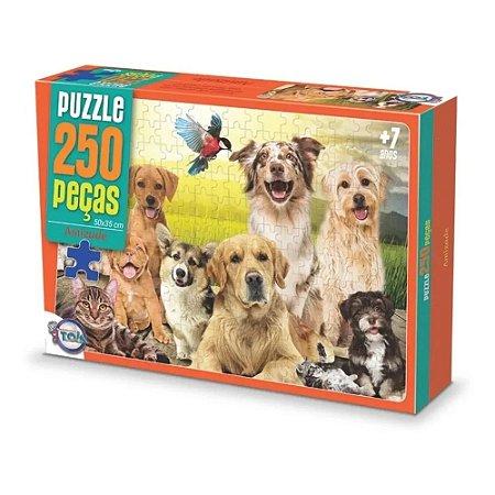 Jogo Puzzle Animais Amizade 250 Peças Toia