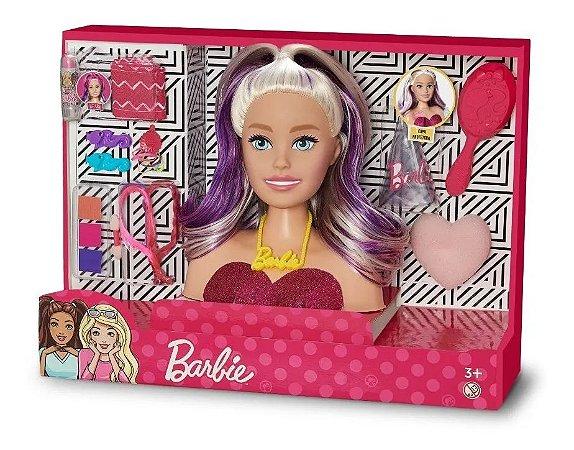 Busto Barbie Styling Head Faces Maquiagem E Acessórios Pupee