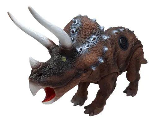 Triceratops Brinquedo Infantil C/som E Articulação Bee Toys