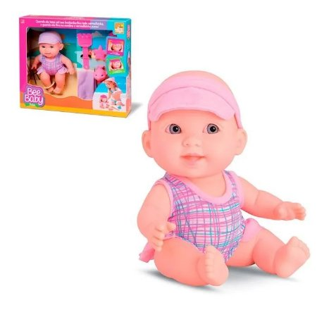 Boneca Bee Baby Praia E Acessórios 807 - Bee Toys