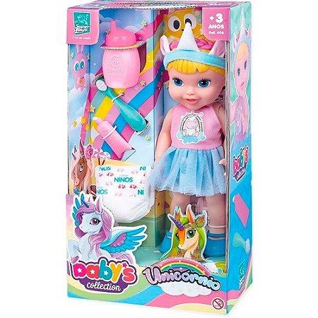 Boneca Babys Collection Unicornio Super Toys
