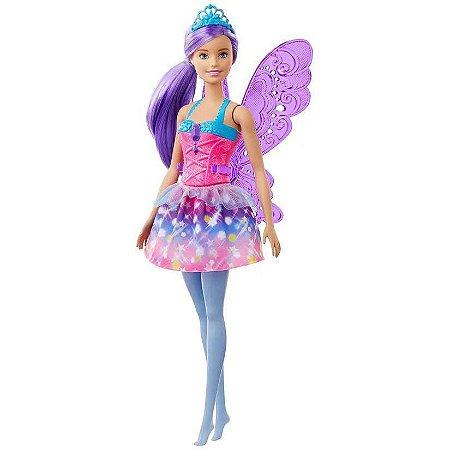 Boneca Barbie Dreamtopia Fada Cabelo Roxo - Mattel GJK00