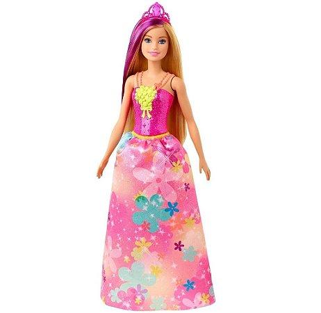 Boneca Barbie Princesa Loira Dreamtopia - Mattel GJK13
