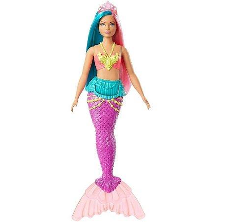 Boneca Barbie Sereia Dreamtopia Cauda Roxa - Mattel GJK11