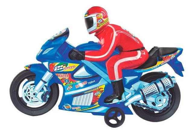 Moto De Fricção Com Piloto Moto Racer Lider