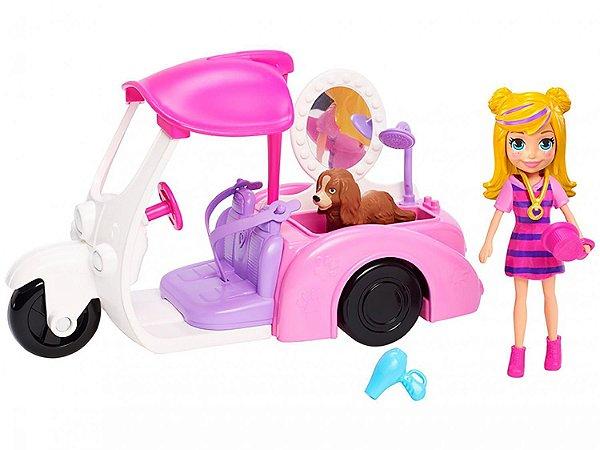Boneca Polly Pocket Grande Moda Esportiva Triciculo Com Acessórios - Mattel GDM10