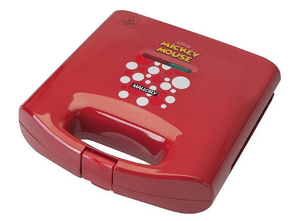 Sanduicheira/Grill Mallory Mickey Mouse - 750W / 127V Antiaderente Vermelho