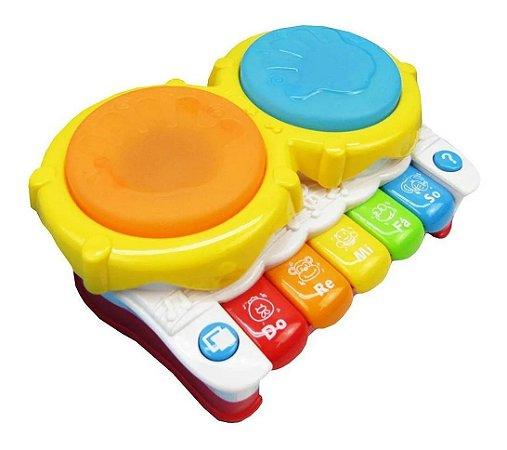 Piano Tambor Musical Infantil Brinquedo Educativo Bbr Toys