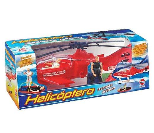 Helicóptero Resgate Aéreo Vermelho- Lider
