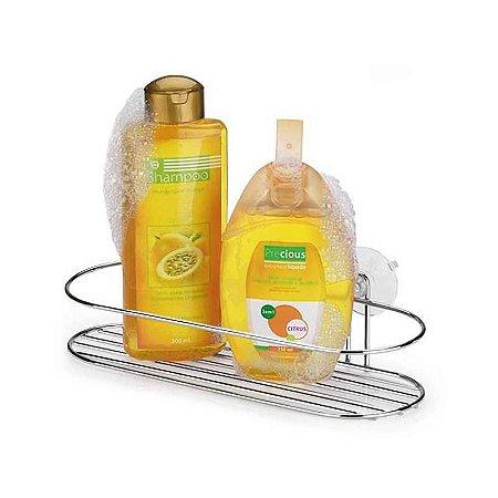 Porta Shampoo Ventosa Cromado - Arthi