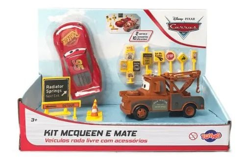 Carrinho Carros 3 Kit Mcqueen E Mate E Acessorios Toyng