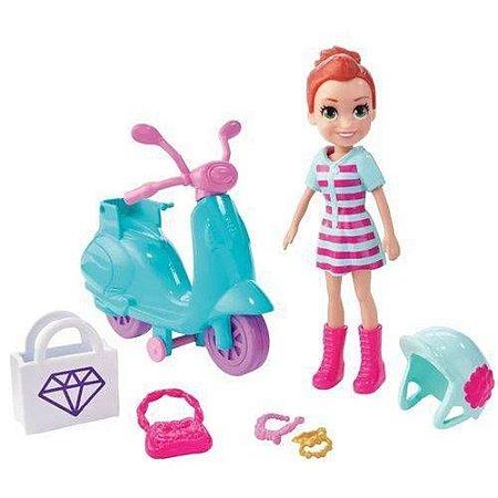 Boneca Polly Pocket Passeio De Scooter Mattel - GFP95