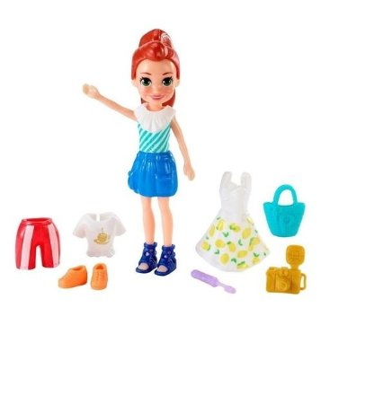 Boneca Polly Pocket Kit Viagem Fashion Mattel - GFT91