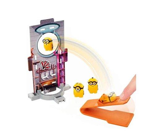 Minions Kung Fu Splatapult Com Cenário Mattel - GMD78
