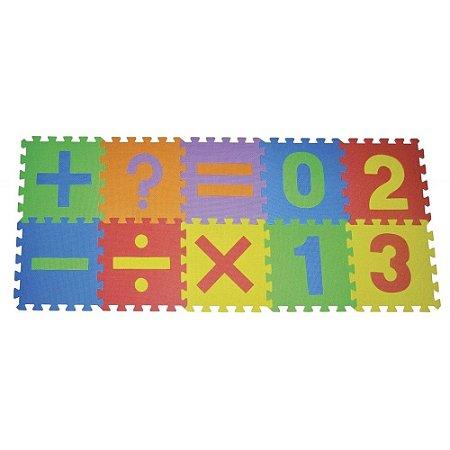 Tapete Tatame infantil em eva Números e sinais 10 peças