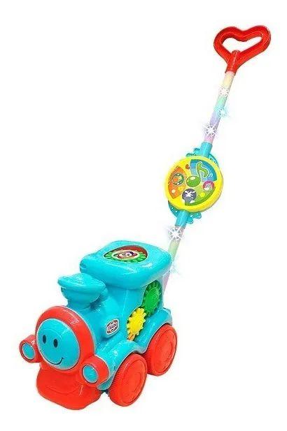 Empurra Baby Musical Trem Guta Guti Dm Toys