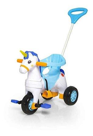 Carrinho Motoca Triciclo Fantasy Azul Calesita