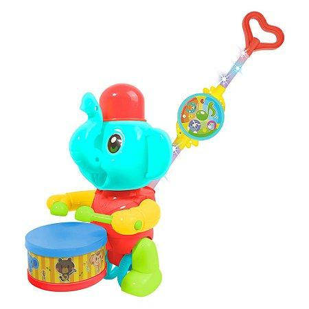 Empurra Baby Musical Elefante - Dm Toys