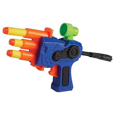 Lançador de Dardos X Darts PLT 1 Disparo Preciso 3 Dardos - Braskit