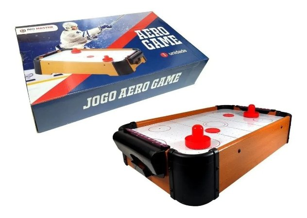 Jogo Aero Game - Rio Master - Mini Mesa Air Hockey