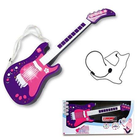Guitarra Eletrônica Infantil - Roxo - Unik Toys
