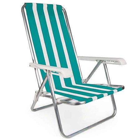 Cadeira Aluminio Verde Reclinável 4 Posições - Mor