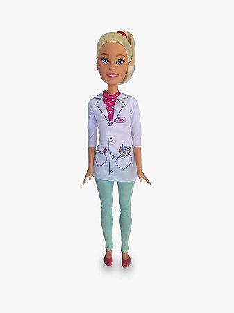 Boneca Barbie Veterinária Grande com Acessórios - Pupee Brinquedos
