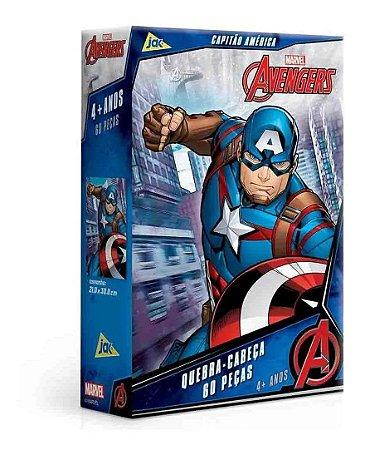 Jogo Quebra Cabeça Capitão América 60 Peças Toyster