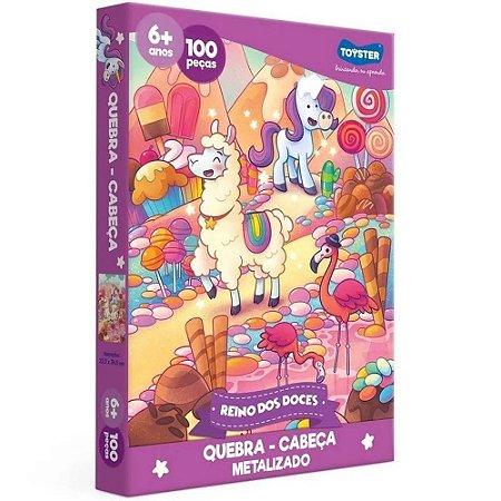 Jogo Quebra Cabeça. Reino Dos Doces 100 Peças Toyster