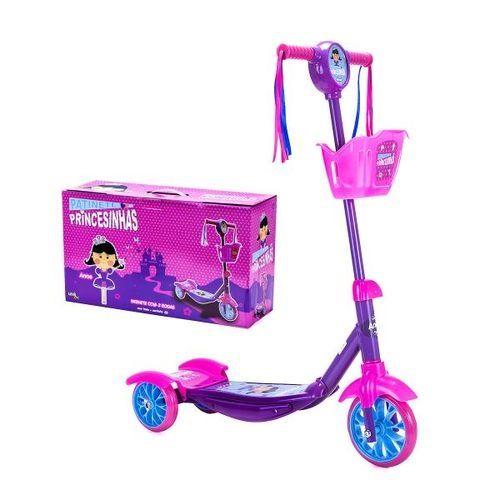 Patinete 3 Rodas Princesinhas - Anne - Unik Toys