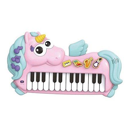 Piano Musical Unicórnio Infantil 32 Teclas - Braskit