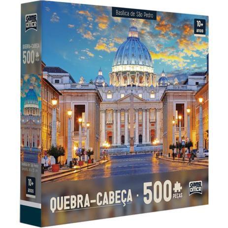 Jogo Quebra Cabeça Baslíca.Catedral 500 Peças Toyster
