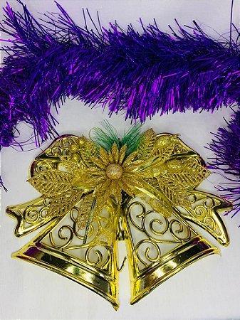 Enfeite de Natal Sino Dourado 28x23 - Wincy Natal