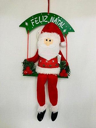 Papai Noel De Tecido No Balanço 38Cm - Wincy Natal