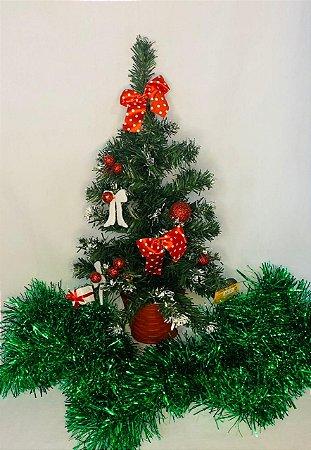 Meia Arvore Para Pindurar Decorada 45Cm - Wincy Natal