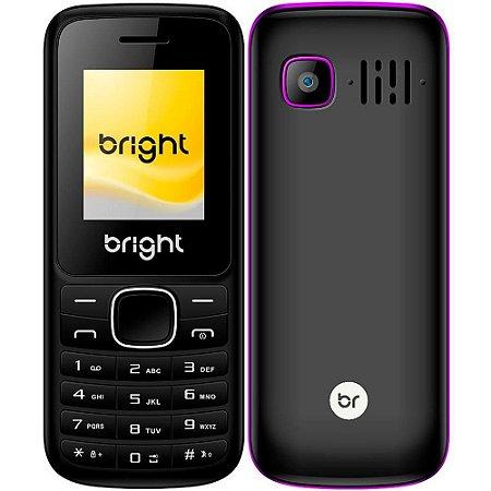 Celular Dual Chip com Bluetooth/FM/SD One Roxo - Bright