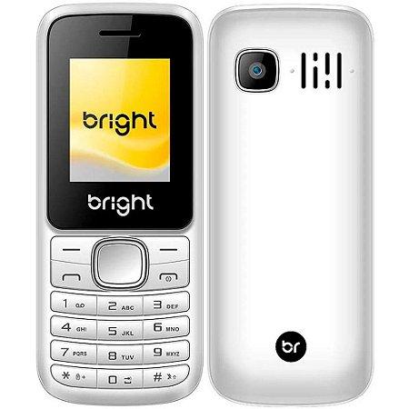 Celular Barra Dual Chip Câmera MP3 e Bluetooth Branco - Bright