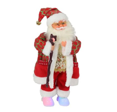 Papai Noel Musical Com Movimento - Decoração Natalina