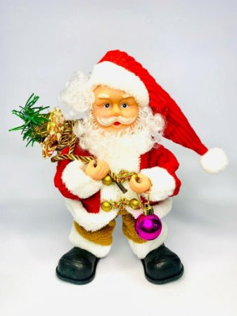 Enfeite Papai Noel Musical 30cm Wincy