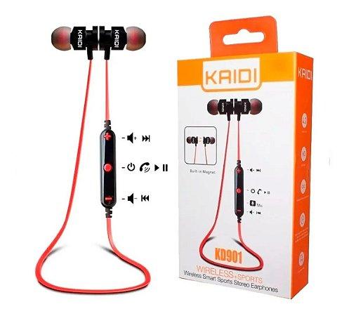 Fone De Ouvido Bluetooth Sem Fio Wireless Kd901 Kaidi Sports