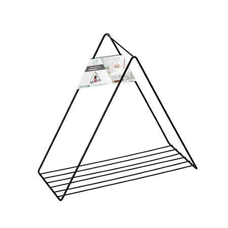 Prateleira Nicho Triângulo Decora Preto 25cm - Arthi