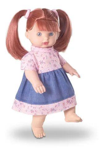 Boneca Bebê Little Jeans Ruiva, 34cm - Milk Brinquedos