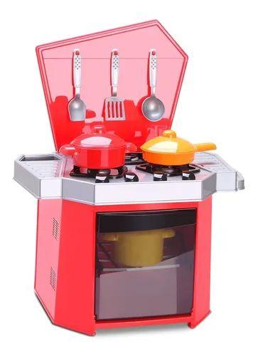 Brinquedo Big Fogão Com Panelas E Talheres Mamy Cook - Silmar