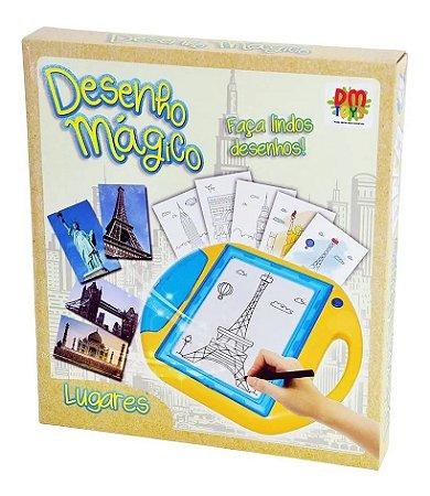 Quadro Mágico Desenho De Lugares - Dm Toys